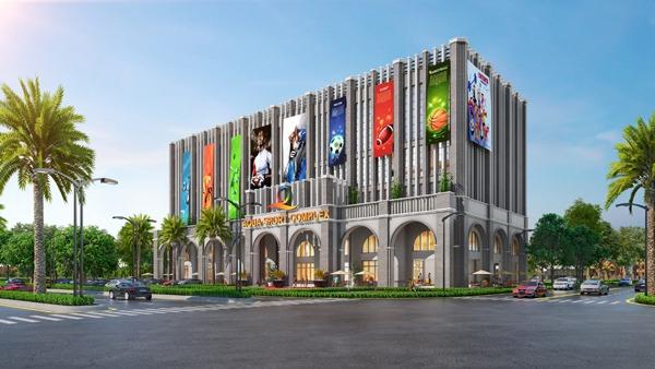 Aqua Sport Complex là trung tâm thể thao đa năng có tổng diện tích lên đến hơn 8.000m2 với quy mô 5 tầng