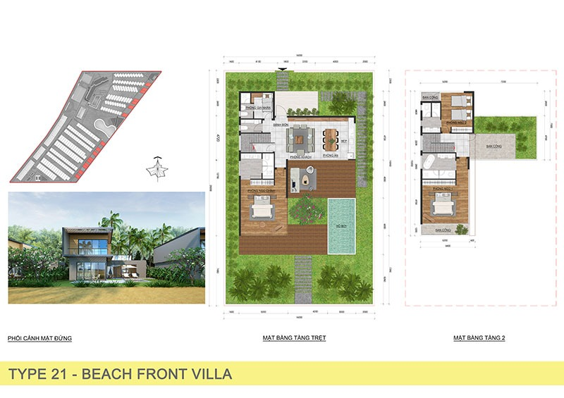 BTĐL Beach Villa 16X25